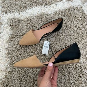 NWT Lane Bryant Wide Fit Dorsay Pointed Toe Flats